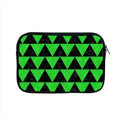 Triangle2 Black Marble & Green Colored Pencil Apple Macbook Pro 15  Zipper Case