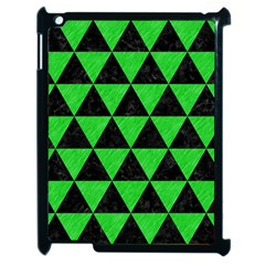 Triangle3 Black Marble & Green Colored Pencil Apple Ipad 2 Case (black) by trendistuff