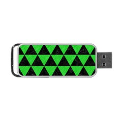 Triangle3 Black Marble & Green Colored Pencil Portable Usb Flash (one Side) by trendistuff