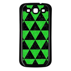 Triangle3 Black Marble & Green Colored Pencil Samsung Galaxy S3 Back Case (black) by trendistuff