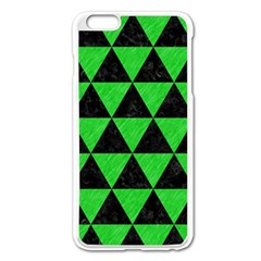 Triangle3 Black Marble & Green Colored Pencil Apple Iphone 6 Plus/6s Plus Enamel White Case by trendistuff