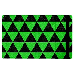 Triangle3 Black Marble & Green Colored Pencil Apple Ipad Pro 12 9   Flip Case by trendistuff