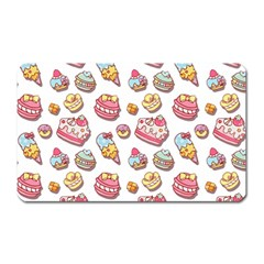 Sweet Pattern Magnet (rectangular) by Valentinaart