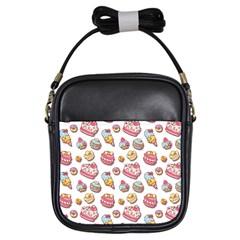 Sweet Pattern Girls Sling Bags by Valentinaart