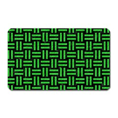 Woven1 Black Marble & Green Colored Pencil Magnet (rectangular) by trendistuff