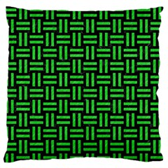 Woven1 Black Marble & Green Colored Pencil Large Flano Cushion Case (one Side) by trendistuff