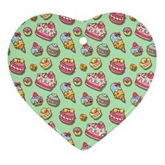Sweet Pattern Ornament (heart) by Valentinaart