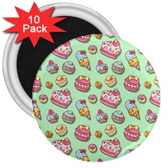 Sweet Pattern 3  Magnets (10 Pack)  by Valentinaart