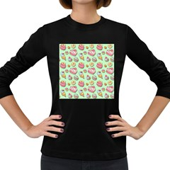 Sweet Pattern Women s Long Sleeve Dark T Shirts by Valentinaart