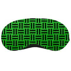 Woven1 Black Marble & Green Colored Pencil (r) Sleeping Masks by trendistuff