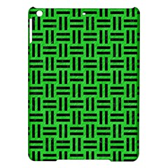 Woven1 Black Marble & Green Colored Pencil (r) Ipad Air Hardshell Cases by trendistuff