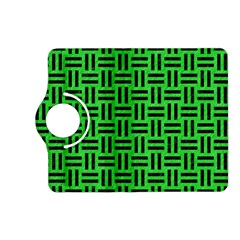 Woven1 Black Marble & Green Colored Pencil (r) Kindle Fire Hd (2013) Flip 360 Case by trendistuff