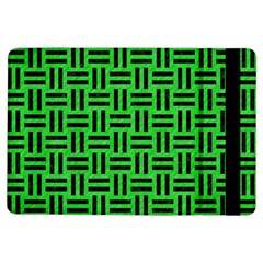 Woven1 Black Marble & Green Colored Pencil (r) Ipad Air Flip by trendistuff