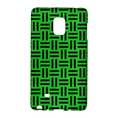 Woven1 Black Marble & Green Colored Pencil (r) Galaxy Note Edge by trendistuff
