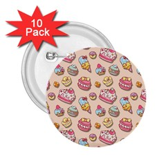 Sweet Pattern 2 25  Buttons (10 Pack)  by Valentinaart