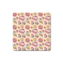 Sweet Pattern Square Magnet by Valentinaart