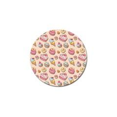 Sweet Pattern Golf Ball Marker by Valentinaart