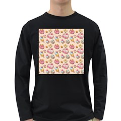 Sweet Pattern Long Sleeve Dark T Shirts by Valentinaart