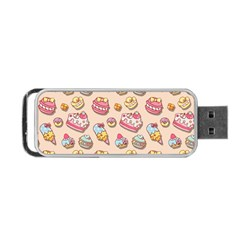 Sweet Pattern Portable Usb Flash (two Sides) by Valentinaart