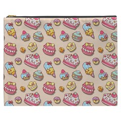 Sweet Pattern Cosmetic Bag (xxxl)  by Valentinaart