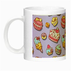 Sweet Pattern Night Luminous Mugs by Valentinaart