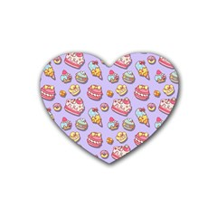 Sweet Pattern Heart Coaster (4 Pack)  by Valentinaart