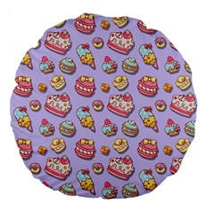 Sweet Pattern Large 18  Premium Flano Round Cushions by Valentinaart