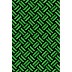 Woven2 Black Marble & Green Colored Pencil 5 5  X 8 5  Notebooks by trendistuff