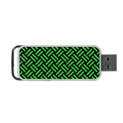 Woven2 Black Marble & Green Colored Pencil Portable Usb Flash (two Sides) by trendistuff