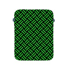 Woven2 Black Marble & Green Colored Pencil Apple Ipad 2/3/4 Protective Soft Cases by trendistuff