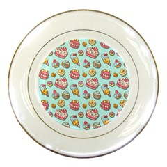Sweet Pattern Porcelain Plates by Valentinaart