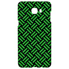 Woven2 Black Marble & Green Colored Pencil Samsung C9 Pro Hardshell Case  by trendistuff