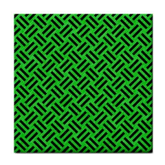 Woven2 Black Marble & Green Colored Pencil (r) Tile Coasters by trendistuff