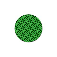 Woven2 Black Marble & Green Colored Pencil (r) Golf Ball Marker (10 Pack) by trendistuff