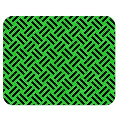 Woven2 Black Marble & Green Colored Pencil (r) Double Sided Flano Blanket (medium)  by trendistuff