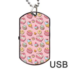Sweet Pattern Dog Tag Usb Flash (two Sides) by Valentinaart