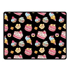Sweet Pattern Fleece Blanket (small) by Valentinaart