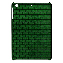 Brick1 Black Marble & Green Leather (r) Apple Ipad Mini Hardshell Case