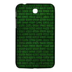 Brick1 Black Marble & Green Leather (r) Samsung Galaxy Tab 3 (7 ) P3200 Hardshell Case