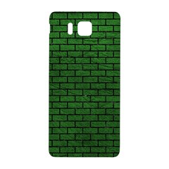 Brick1 Black Marble & Green Leather (r) Samsung Galaxy Alpha Hardshell Back Case by trendistuff