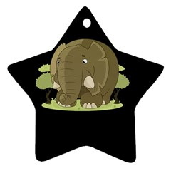 Cute Elephant Star Ornament (two Sides) by Valentinaart