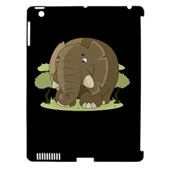 Cute Elephant Apple Ipad 3/4 Hardshell Case (compatible With Smart Cover) by Valentinaart