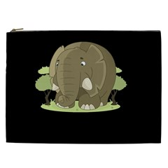 Cute Elephant Cosmetic Bag (xxl)  by Valentinaart
