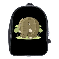 Cute Elephant School Bag (xl) by Valentinaart