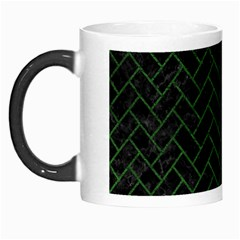Brick2 Black Marble & Green Leather Morph Mugs by trendistuff