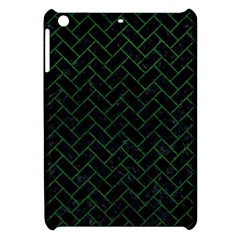 Brick2 Black Marble & Green Leather Apple Ipad Mini Hardshell Case