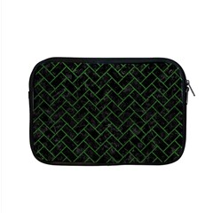 Brick2 Black Marble & Green Leather Apple Macbook Pro 15  Zipper Case by trendistuff