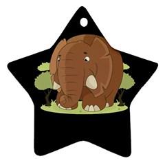 Cute Elephant Ornament (star) by Valentinaart
