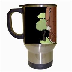 Cute Elephant Travel Mugs (white) by Valentinaart