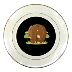 Cute Elephant Porcelain Plates by Valentinaart